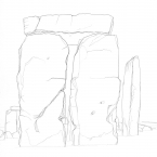 PH276 Stonehenge: Outer face of stones 57, 58 & 158